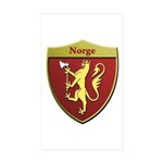 Norway Metallic Shield Sticker