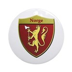Norway Metallic Shield Round Ornament
