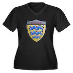 Denmark Metallic Shield Plus Size T-Shirt