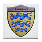 Denmark Metallic Shield Tile Coaster