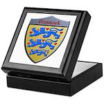 Denmark Metallic Shield Keepsake Box