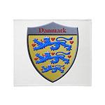 Denmark Metallic Shield Throw Blanket
