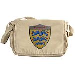 Denmark Metallic Shield Messenger Bag