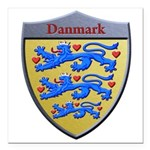 Denmark Metallic Shield Square Car Magnet 3