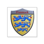 Denmark Metallic Shield Sticker