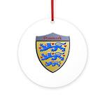 Denmark Metallic Shield Round Ornament