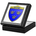 Sweden Metallic Shield Keepsake Box