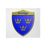 Sweden Metallic Shield Throw Blanket