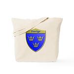 Sweden Metallic Shield Tote Bag
