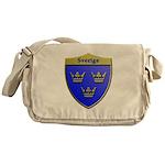 Sweden Metallic Shield Messenger Bag
