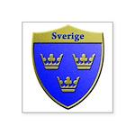 Sweden Metallic Shield Sticker