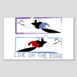 Live on the edge Slalom Rectangle Sticker 10 pk) S