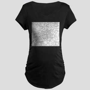 Silver Glitter Maternity T-Shirt