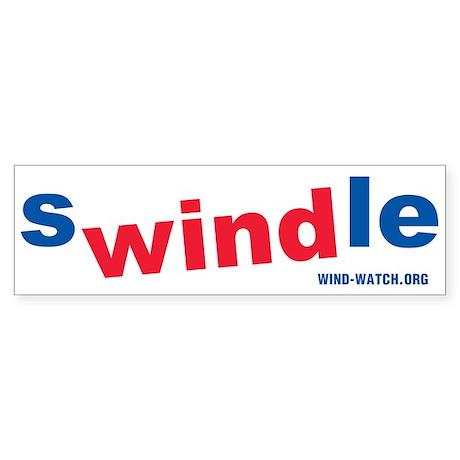 sWINDle Bumper Sticker
