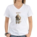 Blondes have more fun! Women's V-Neck T-Shirt