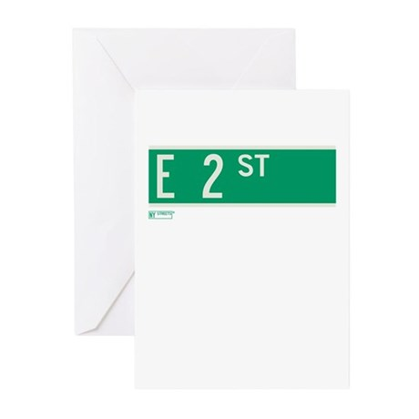 2nd Street in NY Greeting Cards (Pk of 10)