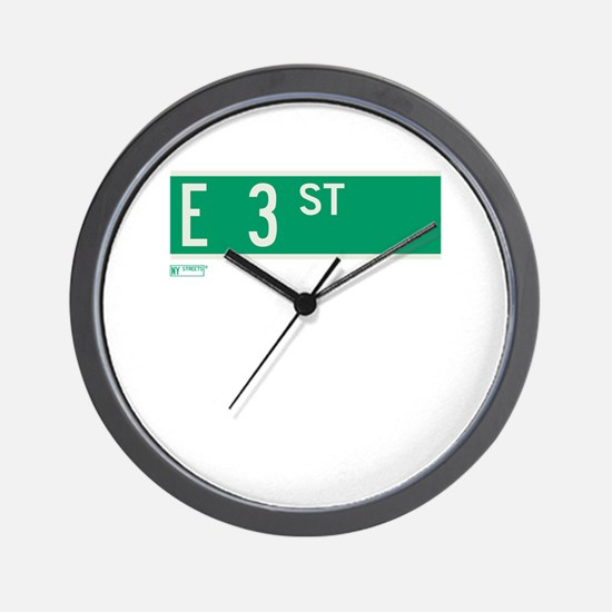 3rd Street in NY Wall Clock
