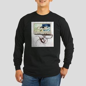 tape Long Sleeve Dark T-Shirt