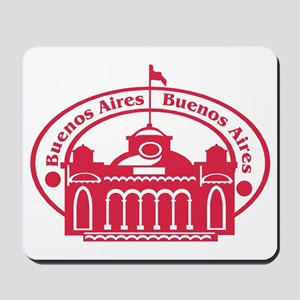 Buenos Aires Passport Stamp Mousepad