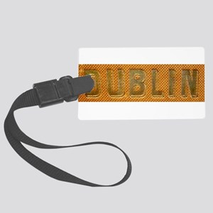 Gold Bar Dublin Large Luggage Tag