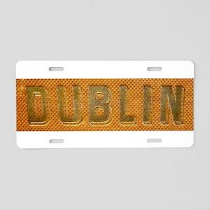 Gold Bar Dublin Aluminum License Plate