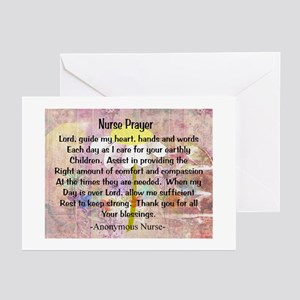 Nurse prayer blanket PINK Greeting Cards