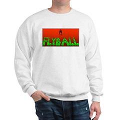 Flyball Dog with background Sweatshirt