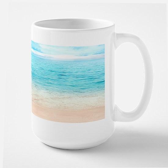 Beautiful Beach Stainless Steel Travel Mugs