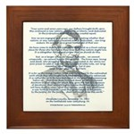 Gettysburg Address Framed Tile