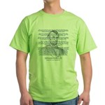 Gettysburg Address Green T-Shirt