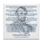 Gettysburg Address Tile Coaster