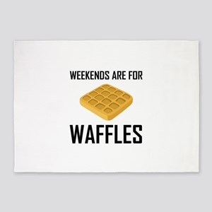 Weekends Are For Waffles 5'x7'Area Rug