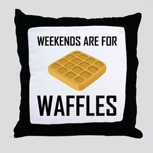 Weekends Are For Waffles Throw Pillow