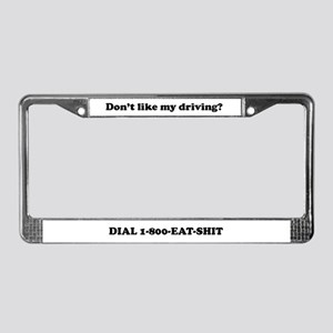 My Driving?... License Plate Holders and Frame