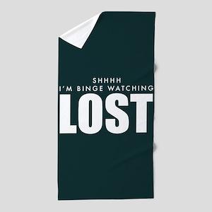 Lost Shhh Binge Watching Beach Towel