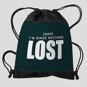 Lost Shhh Binge Watching Drawstring Bag