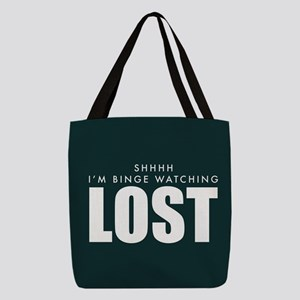 Lost Shhh Binge Watching Polyester Tote Bag