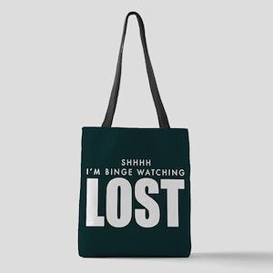 Lost Shhh Binge Watching Polyester Tote Bag