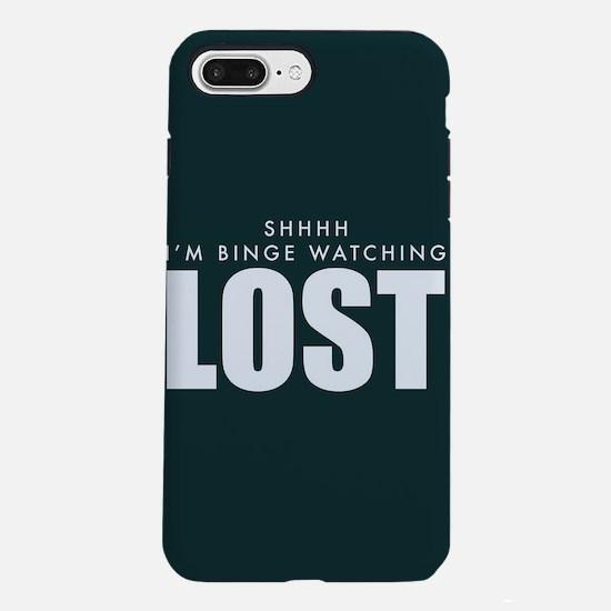Lost Shhh Binge Watchin iPhone 8/7 Plus Tough Case