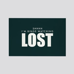Lost Shhh Binge Watching Rectangle Magnet