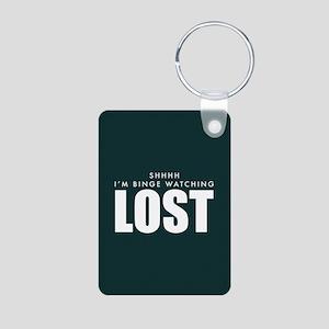 Lost Shhh Binge Watching Aluminum Photo Keychain