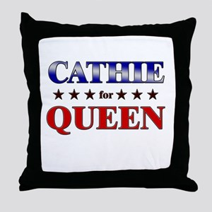 CATHIE for queen Throw Pillow