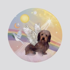 Wire Haired Doxie Ornament (Round)