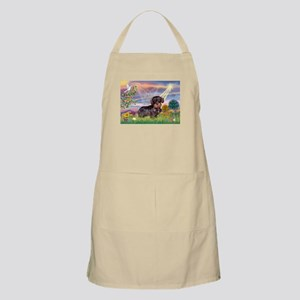 Cloud Angel & Wire Haired Dachshund BBQ Apron