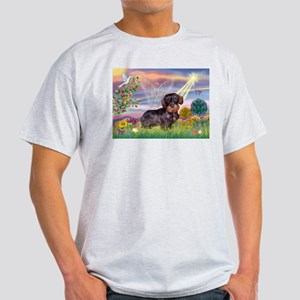 Cloud Angel & Wire Haired Dachshund Light T-Shirt