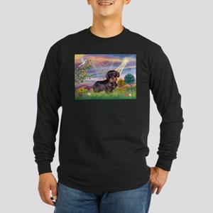 Cloud Angel & Wire Haired Dachshund Long Sleeve Da