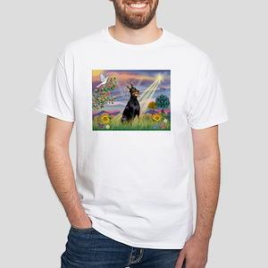 Cloud Angel & Dobie White T-Shirt