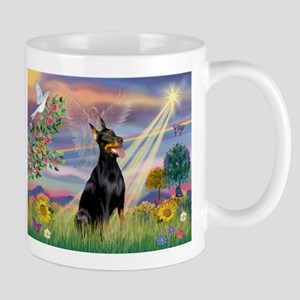 Cloud Angel & Dobie Mug