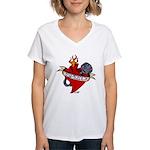 LOVE OF SPEED Women's V-Neck T-Shirt
