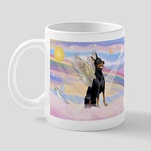 Dobie Angel in Clouds Mug